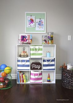 7 tips for organizing toys and ideas for containing the clutter in a stylish way with @HomeGoods