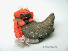 winter birdie pin