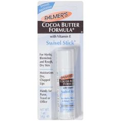 Palmer's: Cocoa Butter Swivel Stick. I can't live w/o this stuff