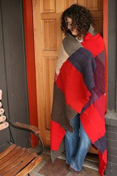 Recycled Sweater Blanket - PART TWO!!!