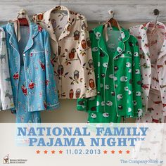 From October 2nd to December 2nd, for every pair of pajamas purchased through thecompanystore.com, $1.00 will be donated to Ronald McDonald House Charities! We're also working with Houses around the nation to deliver 3,000 cozy PJs to families in time for National Family Pajama Night! See how you can help here: http://www.thecompanystore.com/pjnight  #pjnight