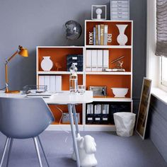 love the color on the bookshelf