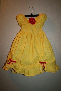 Disney Princess Dress  Belle Inspired Dress by Theresafeller, $42.00