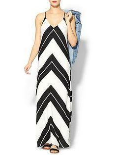 Eight Sixty Nikki Chevron Maxi Dress   Piperlime