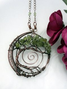 Wire Wrapped Tree of Life Pendant Necklace