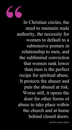 The Underlying Belief System of Spiritual Abuse