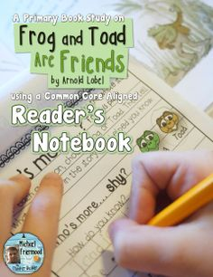 """A reader's notebook book study for """"Frog and Toad Are Friends,"""" by Arnold Lobel. For grades 1-2 ($)"""