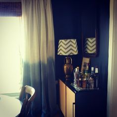 MODERNHAUS - DIY ombre curtains.  thinking of doing this with a shower curtain.