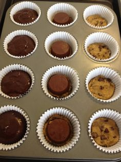 My coworkers wife made these a few weeks ago. I don't know if the cookie dough or brownie were made from scratch but it was… awesome is not a descriptive enough word!!