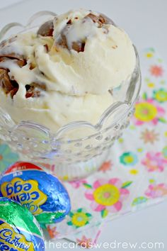 cabdury egg ice cream