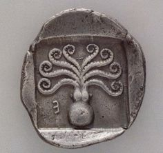 Greek coin, c 500-480 BC with octopus