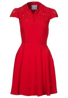 THE LIBRARIAN DRESS - Blusenkleid - red