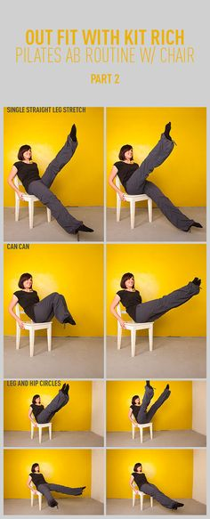 Pilates Abs Workout With a Chair: Part Two. So this will work for me, because I'm on a very tight budget!