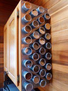 magnet rack, bathroom crafts, diy spice rack, creative storage kitchen, the craft, magnet spice, magnetic boards, kitchen spaces, craft rooms