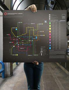 Subway infographic design elements + grid system