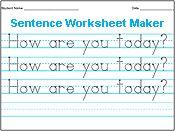 Handwriting Practice Sentence Practice