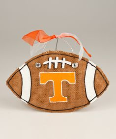 Tennessee Small Football Burlap Wall Hanging