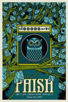Phish. I want this poster please! If any one has one and wants to sell it I would LOVE to get it for my boyfriend!