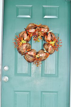 """FOR SALE: Custom Fall Mesh Wreath that measures approximately 25"""" wide by 22"""" top to bottom. It has beautiful fall colors and has so many unique details. If anyone is interested please let me know. Thank you!"""