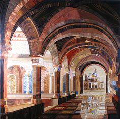 Thousands of Wood Slivers Form Amazing Cathedral Artworks - Kalman Radvanyi #art