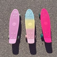 #boys #cool #girls #relax #skates #skaters #penny board #pink