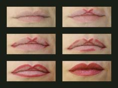 "To get fuller and more luscious lips, you simply have to learn how to properly apply lip liner. In order to get the Cupid's Bow shape, you just need to mark an ""X"" in the center of your top lip, line the corners and then join everything together. Once you apply your lipstick, your lips will look much fuller. Beauty hack"
