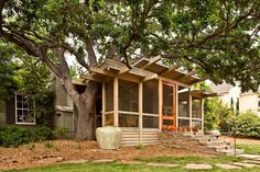A Treehousefront porch in Texas.
