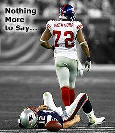 Love it, Brady on the ground.