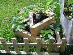 Homemade strawberry planter