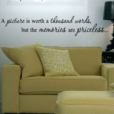 :) my home will be filled with both!     A picture is worth a thousand words but the by VinylLettering, $12.95