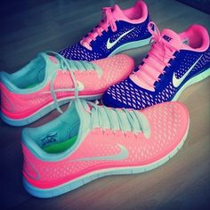 blue, sneaker, workout shoes, tenni, sport, nike running, nike shoes, nike free runs, bright colors