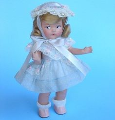 Vogue Toddles Pre Ginny Composition 1940s In All Original Factory Crisp Outfit #Dolls