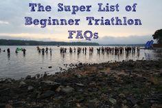 The Super List of Beginner Triathlon FAQs