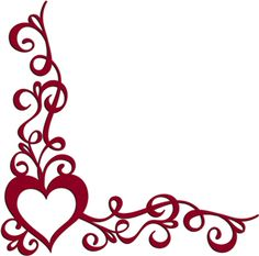 Small Red Heart Corner Border Pictures to Pin on Pinterest ...
