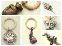 Silver Baby Animal Rattles