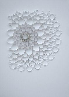 Paper art // Matt Shlian #white #intricate #art