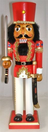 nutcrackers | 14 Inch Wooden Hispanic Christmas Nutcracker with Sword