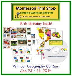 great givewaway! birthday bash, happy birthdays, kinderkram, giveaway, 10th birthday, contest, homeschool, montessori print, giveway