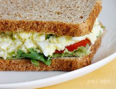 Skinny Low-Yolk Egg Salad #lowcarb #easter #lunch #weightwatchers 2 points+