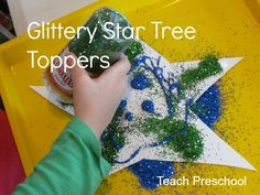 Glittery Star Tree Toppers