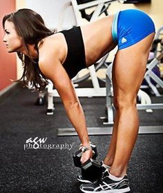 Stiff-leg deadlifts are great for your butt and hamstrings!