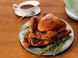 Pomegranate-Glazed Turkey With Wild Rice Stuffing Recipe