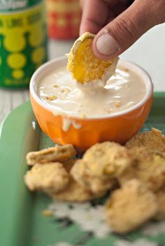 The+Deen+Bros+Deep-Fried+Pickles+with+Honey-Mustard+Dipping+Sauce