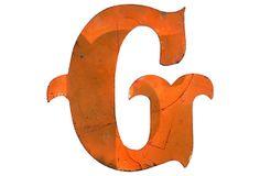Orange Metal Marquee      Letter G on OneKingsLane.com