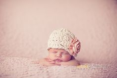 Baby Girl Hat  Newborn Photo Prop  Newborn Flower by bitOwhimsy, $26.00