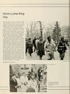 """Athena yearbook, 1987. """"Martin Luther King Day."""" :: Ohio University Archives"""