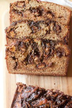 Peanut Butter Cup Hot Fudge Banana Bread