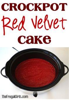 dessert cakes, red velvet cake recipe, crock pots, dessert recipes, crockpot cakes, cake desserts, crockpot red, crockpot recipes, cake recipes
