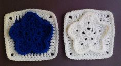 "One Crochet day at a Time ""BlueDragonFly Designs on a Hook"": WINTER STAR 6"" SQUARE"