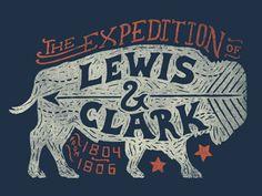 Lewis & Clark - Declaration Tee by Jonathan Schubert